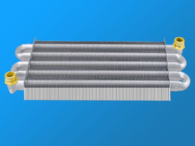 Single-channel wall-mounted furnace heat exchanger